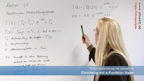e-Funktionen lösen - Vorkenntnisse zur Analysis