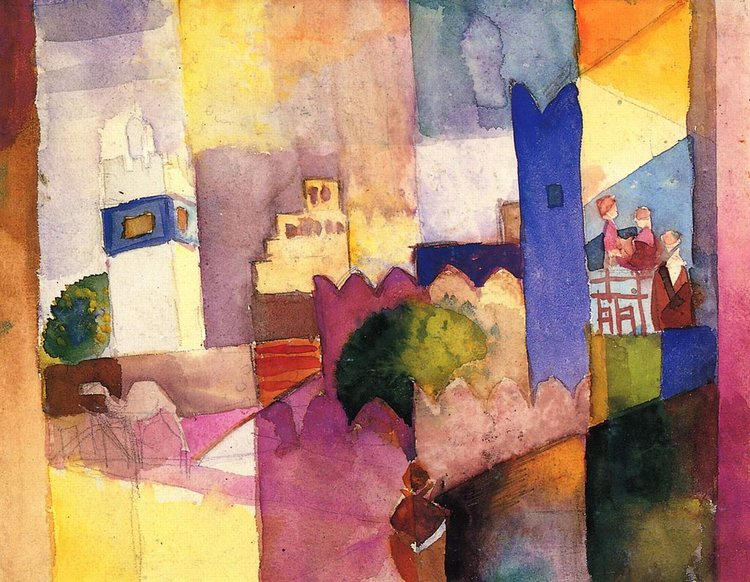 Kairouan - August Macke (The Yorck Project: 10.000 Meisterwerke der Malerei. DVD-ROM, 2002. ISBN 3936122202. Distributed by DIRECTMEDIA Publishing GmbH)