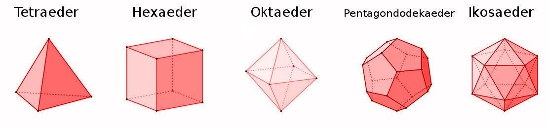Geometriemodell eines Pentagon Dodekaeder Platonischer Körper schwarz