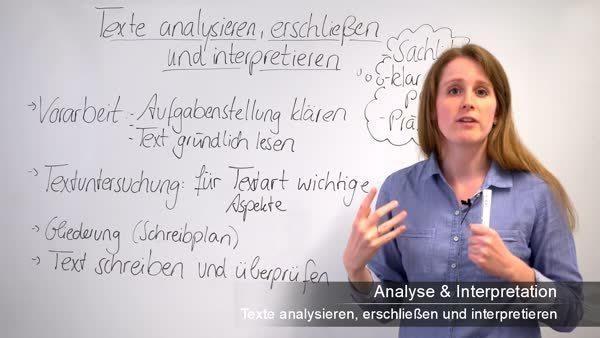 Texte Analysieren Erschließen Und Interpretieren