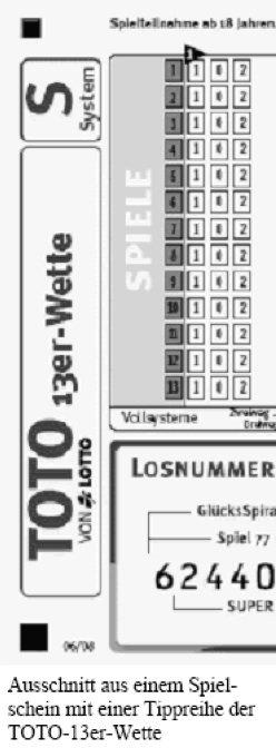 Toto 13er Wette System